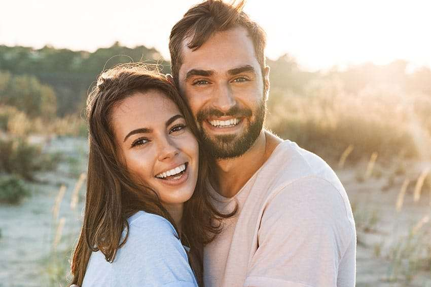 Happy couple show off their love - and smiles